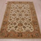 4x6 WOOL AREA RUG PERSIAN BEIGE RUST HAND MADE TUFTED