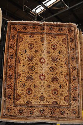 8x10 VERY FINE WOOL HAND KNOTTED AREA RUG IVORY PERSIAN