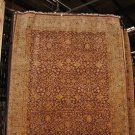 8x10 FINE WOOL HANDMADE RUG RUST GOLD RED GREEN PERSIAN