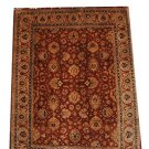 8x10 FINE WOOL HAND KNOTTED AREA RUG RUST IVORY PERSIAN