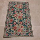 3x5 TAPESTRY WOOL AREA RUG FRENCH AUBUSSON GREEN PINK