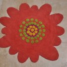KIDS ROOM HANDMADE WOOL RUG KITCHEN PINK FLOWER SMALL