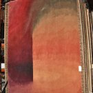 8x10 ANDY WARHOL RUG WOOL HAND TUFTED RED GREEN BROWN RUST THICK PILE