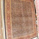 9x12 WOOL AREA RUG PERSIAN HANDMADE NAVY BLUE RED INDIA KASHAN IVORY