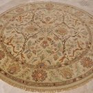 8 FOOT ROUND AREA RUG HANDMADE TUFTED WOOL BEIGE TWIST