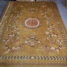 10x14 GOLD AREA RUG PERSIAN INDO NEPAL LARGE HANDMADE