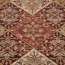 4x6 WOOL AREA RUG HANDMADE MASTERPIECE RED GOLD IVORY
