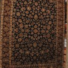 9x12 WOOL RUG HANDMADE JAIPUR BLACK RED GREEN IVORY