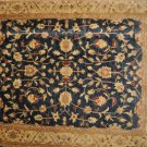 8x10 RUG BLUE IVORY GOLD RED VEGETABLE CHOBI MUTED HANDMADE GAZANI WOOL PAKISTAN