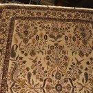 9x12 AREA RUG HANDMADE PERSIAN SAROUK IVORY BEIGE WOOL