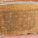 9x12 WOOL AREA RUG PERSIAN JAIPUR GREY BLUE GOLD WASHED