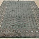 8x10 WOOL RUG PERSIAN TRIBAL BOKHARA HANDMADE GREEN RED