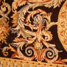 9x12 RUG FRENCH AUBUSSON SAVONERRIE GOLD BLACK THICK