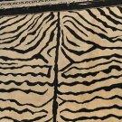 8x10 WOOL AREA RUG WOOL ZEBRA PRINT B&W FINE INDO NEPAL