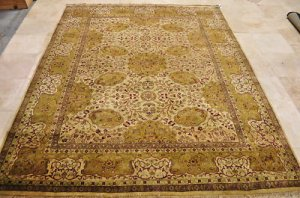 8x10 WOOL AREA RUG PERSIAN JAIPUR HANDMADE TRADITIONAL
