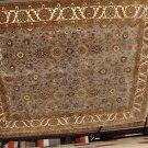 8x10 WOOL RUG PERSIAN HANDMADE BLUE GREY IVORY GOLD new