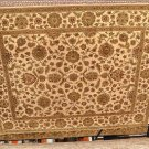 8x10 JAIPUR NEW ZEALAND WOOL AREA RUG IVORY GOLD GREEN