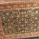 9x12 WOOL RUG PERSIAN JAIPUR HANDMADE INDIA BLACK RED