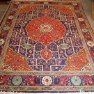 10x14 AREA RUG HANDMADE WOOL RED BLUE PERSIAN OVERSIZED