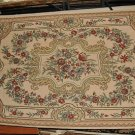 NEW 6x9 WOOL AREA RUG AUBUSSON SAVONERRIE CHAIN STITCH