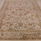8x10 WOOL HANDMADE PERSIAN AREA RUG IVORY MASTERPIECE