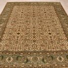 8x10 WOOL HAND KNOTTED AREA RUG IVORY GREEN MASTERPIECE