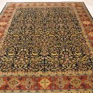 8x10 WOOL HANDMADE AREA RUG BLUE RUST PERSIAN VERY FINE