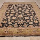 8x10 WOOL HAND KNOTTED AREA RUG BLACK RED MASTERPIECE