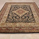 8x10 FINE WOOL HANDMADE AREA RUG BLACK RED MASTERPIECE