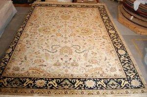 10x14 WOOL AREA RUG FINE PERSIAN KASHAN HANDMADE NEW