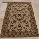 4x6 WOOL AREA RUG PERSIAN BEIGE HAND MADE TUFTED