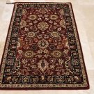 4x6 WOOL AREA RUG PERSIAN RED BLACK HAND MADE TUFTED
