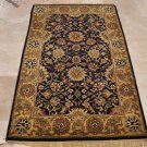 4x6 WOOL AREA RUG PERSIAN NAVY GOLD HAND MADE TUFTED