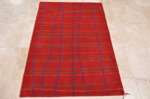 4x6 WOOL AREA RUG MODERN RED HAND MADE TUFTED KIDS ROOM