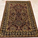 4x6 WOOL AREA RUG PERSIAN BURG BLACK HAND MADE TUFTED