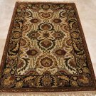 4x6 WOOL AREA RUG PERSIAN BEIGE COLA HAND MADE TUFTED