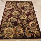 4x6 WOOL AREA RUG PERSIAN BURGUNDY HAND MADE TUFTED