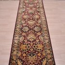 2.5x13 WOOL RUNNER HAND KNOTTED WINE BEIGE PERSIAN FINE