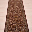 2.5x10 WOOL RUNNER HANDMADE KNOTTED RED BLUE PERSIAN