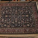8x10 WOOL RUG KASHAN HANDMADE BLUE RED GREEN GOLD WHITE