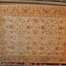 9x12 WOOL RUG AGRA VEGETABLE PERSIAN BEIGE GOLD IVORY