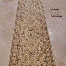 2.5x12 FOOT RUNNER HANDMADE VEGETABLE DYE IVORY CHOBI