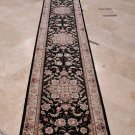 3x20 FOOT RUNNER HANDMADE ORIENTAL BLACK BEIGE OVERSIZE