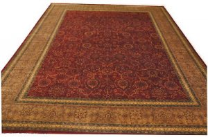 9x12 AREA RUG FINE PERSIAN BURGUNDY RED RUST GREEN LT