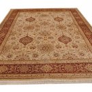 9x12 RUG PERSIAN VEGETABLE DYE GHAZNI WOOL IVORY RUST