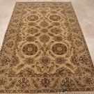 5x8 AREA RUG ALL WOOL HAND KNOTTED JAIPUR IVORY CAMEL