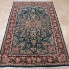 5x7 AREA RUG ALL WOOL HAND KNOTTED FINE AQUA GREEN RED