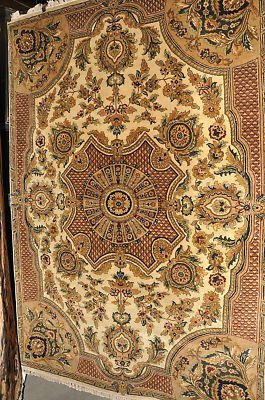 NEW 6x9 JAIPUR FRENCH VICTORIAN RUG HANDMADE IN INDIA