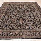 9x12 AREA RUG FINE PERSIAN HANDMADE FLORAL BLACK GREEN