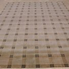 9x12 WOOL SILK RUG THICK SOFT HANDMADE TAN BLACK BEIGE